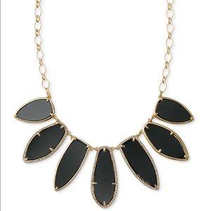 Stella & Dot Allegra Statement Black Gold Necklace